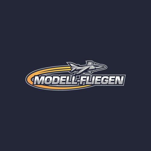 Jet logo with the title 'Modell-Fliegen Logo'