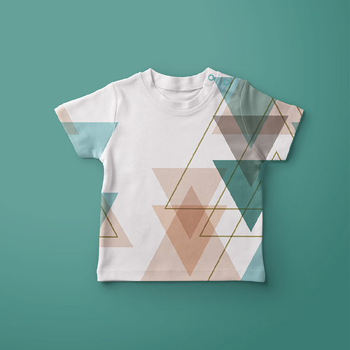 Geometric artwork with the title 'Geometric design for baby tshirt'
