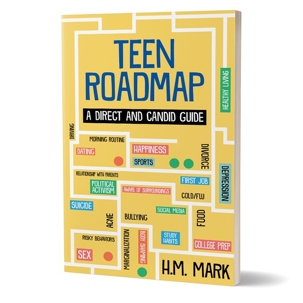 Roadmap design with the title 'Book cover'