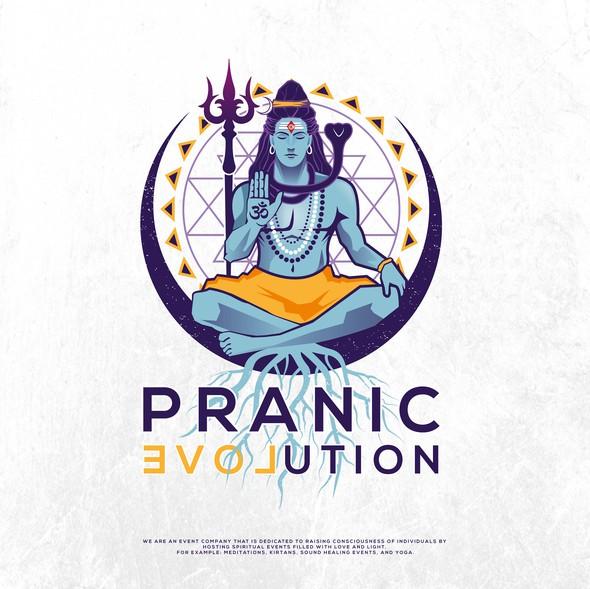 Shiva logo with the title 'Pranic evoLution'