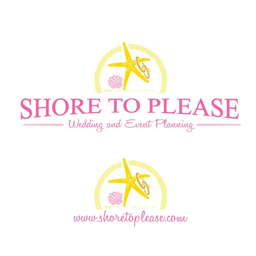 Starfish logo with the title 'Shore to Please Wedding Event'