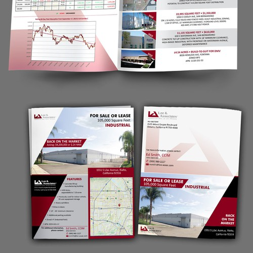 Apartment design with the title 'Industrial real estate marketing brochure'