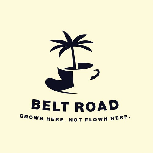 Depth design with the title 'Logo concept for a Hawaiian coffee company'