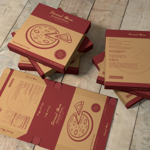 Pizza box packaging with the title 'Medical Marijuana Pizza Packaging Design Contest'