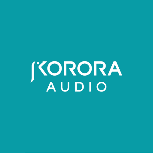 Audio design with the title 'Music Gear Logo: Korora Audio'