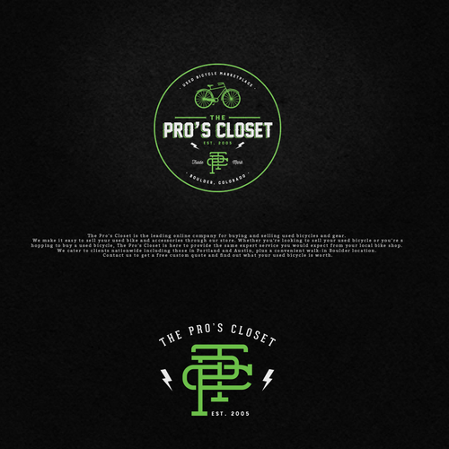 Market logo with the title 'Logo for The Pro's Closet'