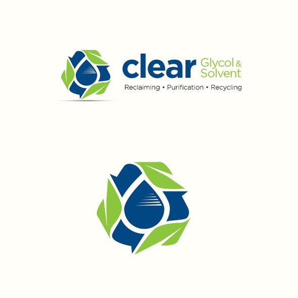 """Recycling logo with the title 'Logo Design """"Recycle Leaf""""'"""