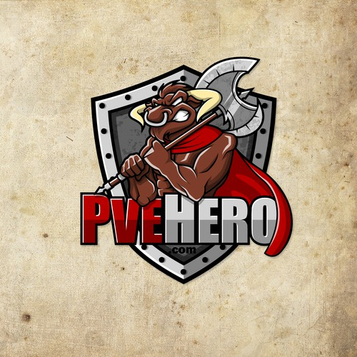 Bull design with the title 'PveHero'