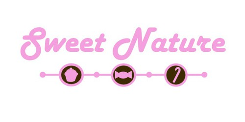 Candy store logo with the title 'Sweet Nature - new candy shop on the block'