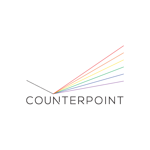 Rainbow brand with the title 'logo concept for a new education site'
