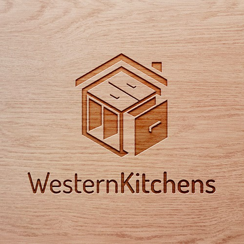 Cabinet design with the title 'Logo for Residential Kitchen'