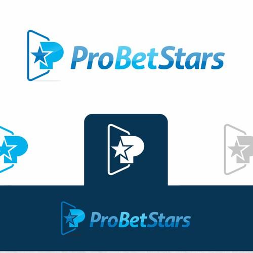 Gambling logo with the title 'Pro Bet Stars logo design'