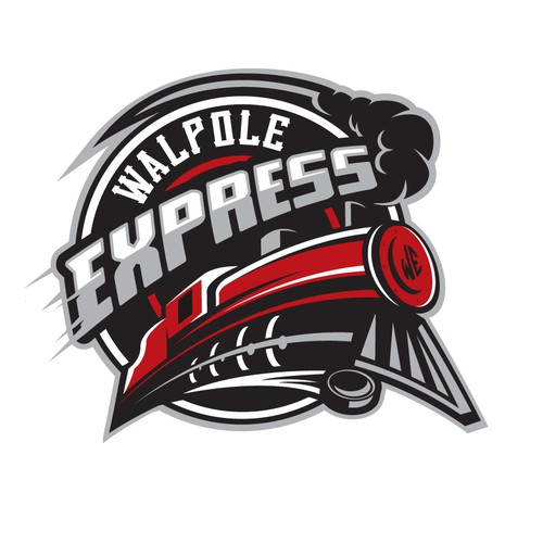 Athletic logo with the title 'Express Hockey'
