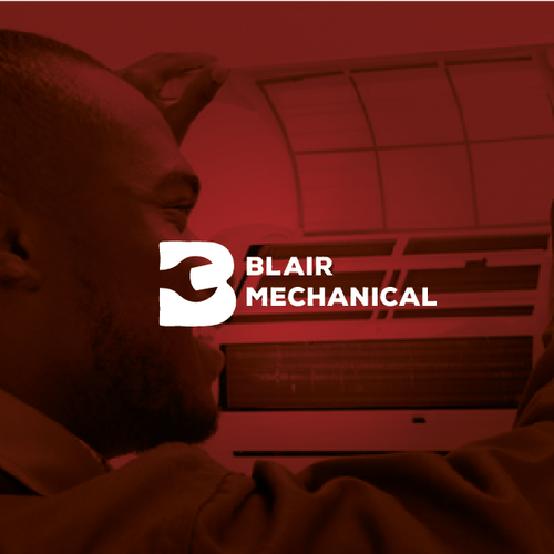 Powerful design with the title 'Blair Mechanical'