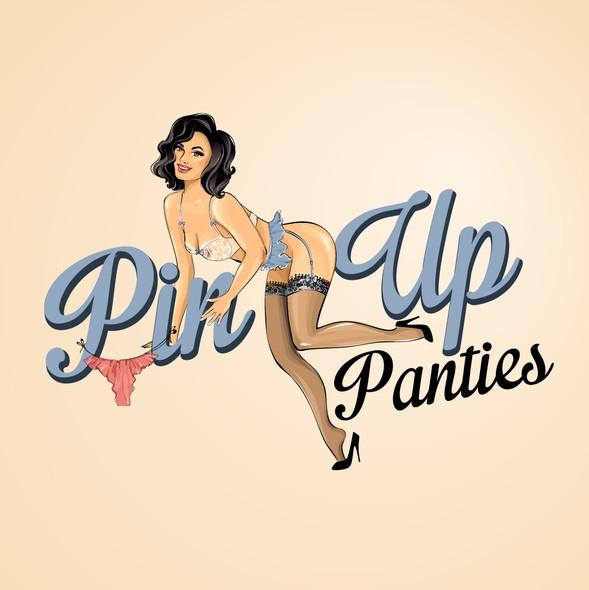 Pin-up girl logo with the title 'Vinatge logo for Pin~Up Panties'