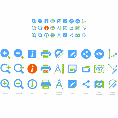 icons for mapping application
