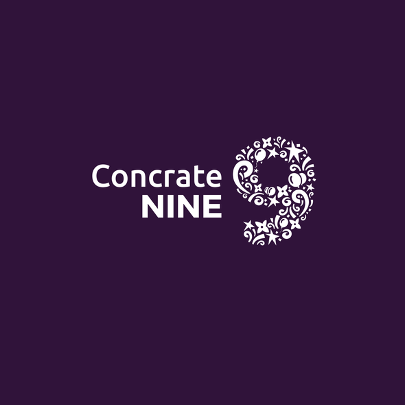 Nine design with the title 'ConcrateNine Logo'