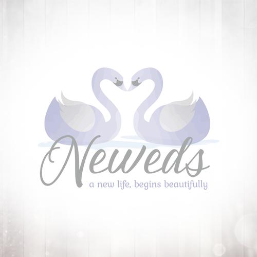Swan logo with the title 'Swan Wedding Logo'