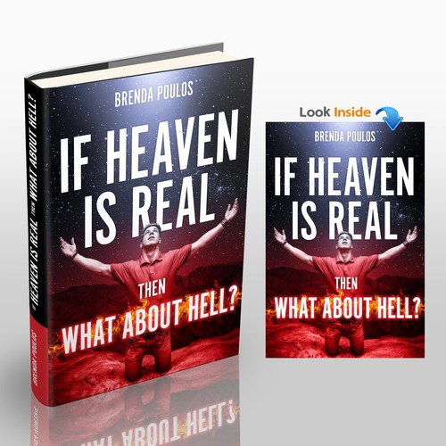 Heaven design with the title 'IF HEAVEN IS REAL THEN WHAT ABOUT HELL?'
