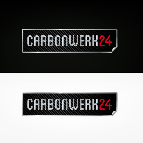 Carbon design with the title 'Logo Carbonwerk 24'