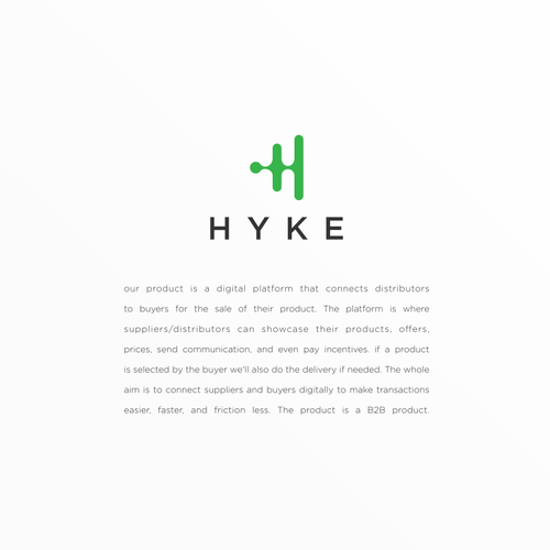 H logo with the title 'Hyke'