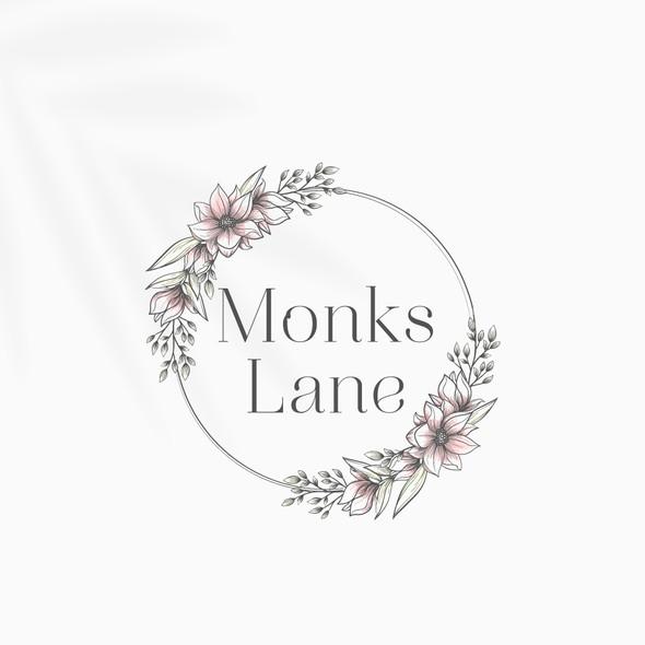 Magnolia logo with the title 'Monks Lane Logo Design'
