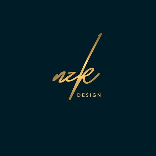 LAN design with the title ' NZK DESIGN logo concept'