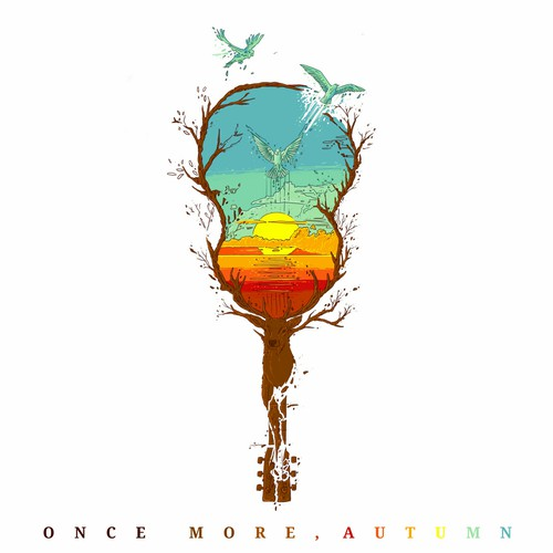 Sunset design with the title 'ONCE MORE AUTUMN'