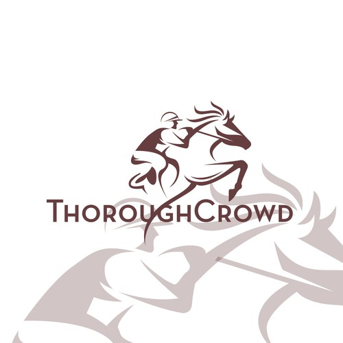 Racing logo with the title 'horse racing'
