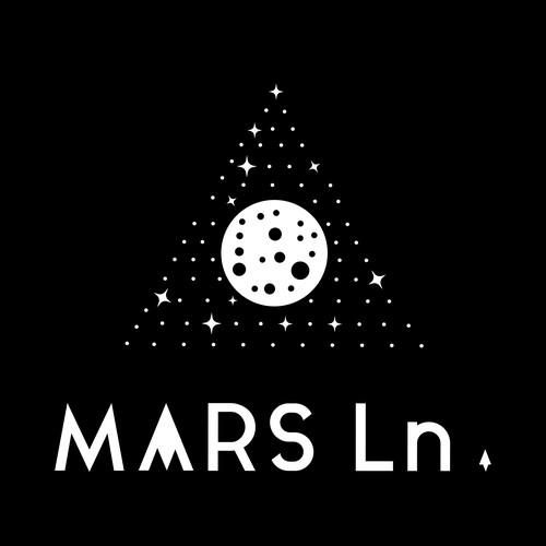 Black and white brand with the title 'MARS Ln. brand identity'