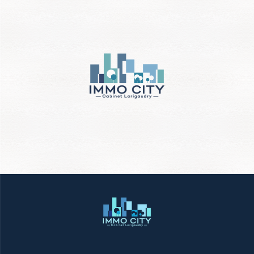 Event planning logo with the title 'Immo City Logo Design'