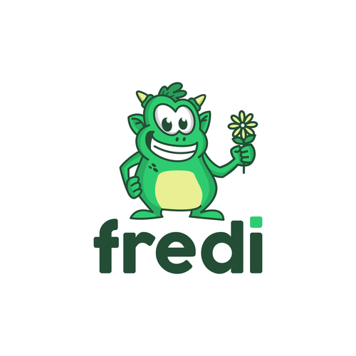 Monster logo with the title 'Fredi'