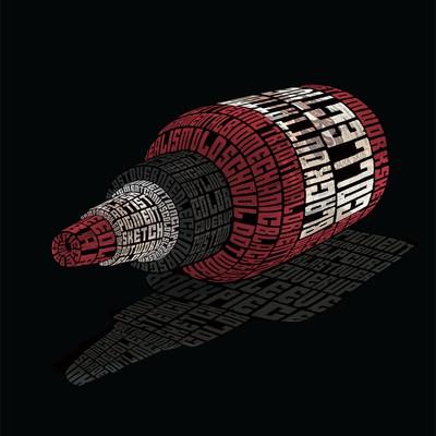 Typography Bottle Ilustration
