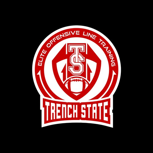 Elite logo with the title 'Sport logo for American football club named Trench State'