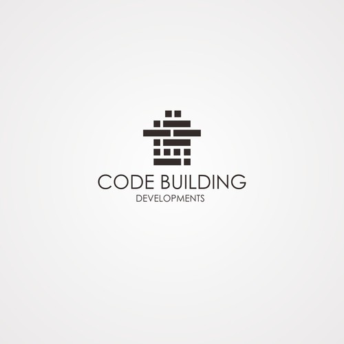 Building design logo with the title 'CODE BUILDING DEVELOPMENT'