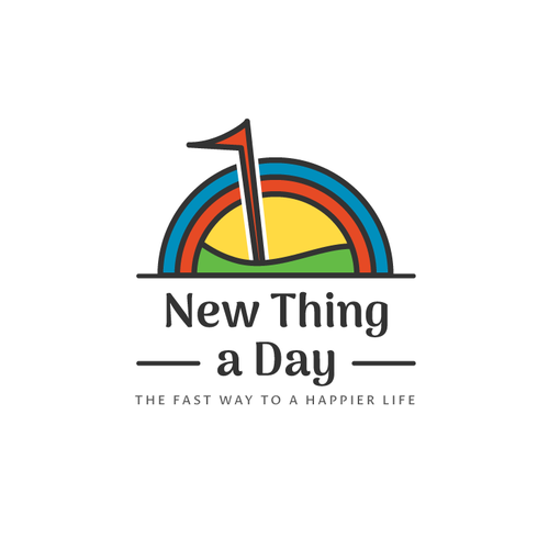 "Goal logo with the title 'Warm and Inviting logo for ""1 New Thing a Day""'"