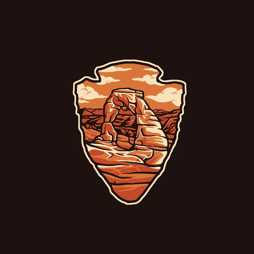 National park design with the title 'Outdoor Badge Design for t-shirts'