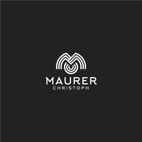 Carpentry design with the title 'Maurer Christoph (MC)'