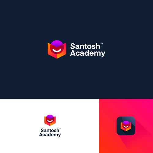 Student brand with the title 'Logo Concept for Santosh Academy'