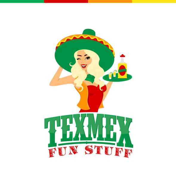Cheeky logo with the title 'Eyecatching Logo for a Texmex Restaurant'
