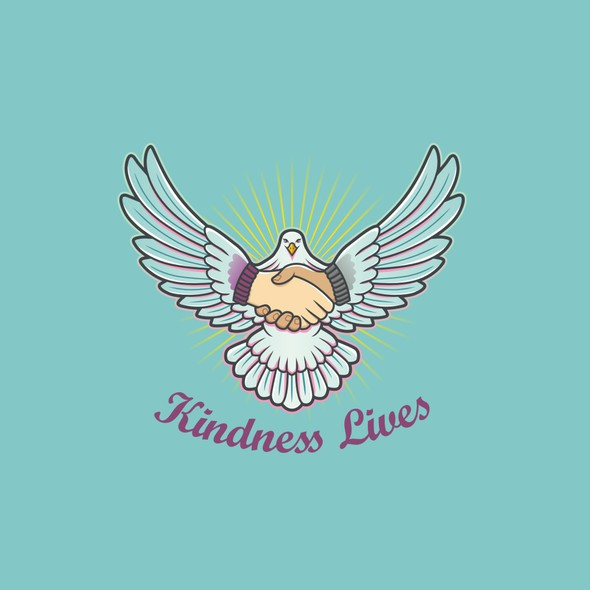 Kindness logo with the title 'kindness lives'