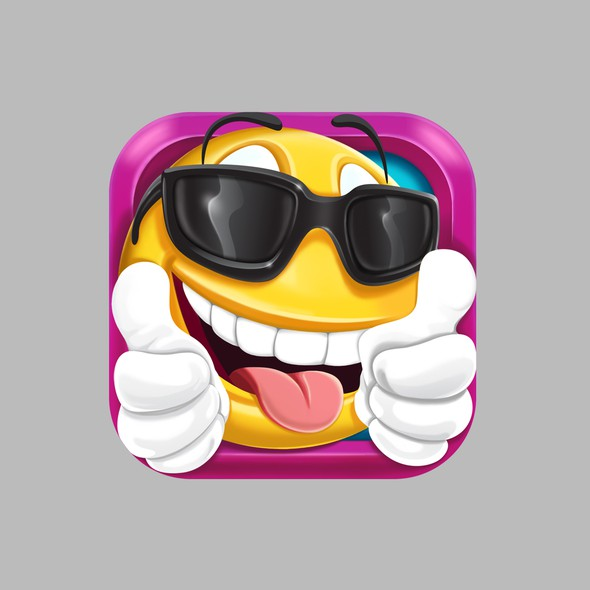 Tongue design with the title 'Icon for Emoji quiz game'