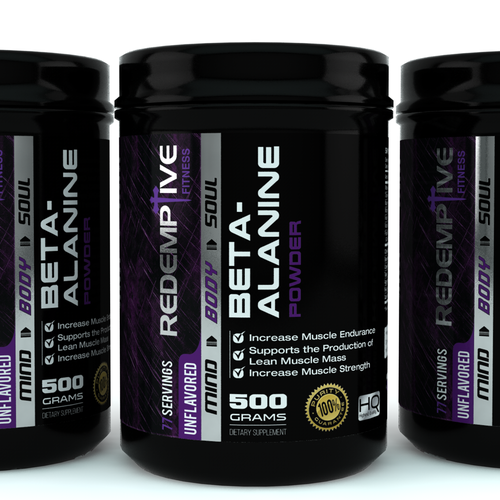 Cinema 4D design with the title 'unique, clean and masculine packaging design for Redemptive Fitness'