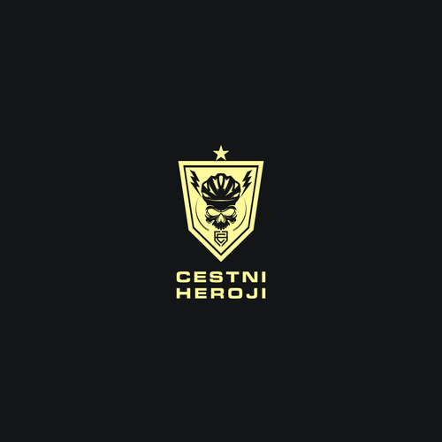 Superhero logo with the title 'CESTNI HEROJI'