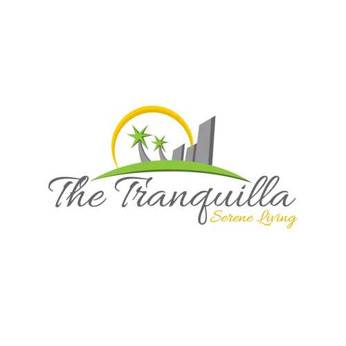 Stunning logo with the title 'Tranquilla'