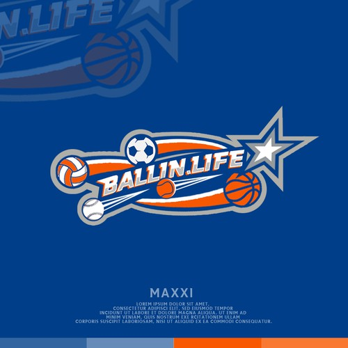Volleyball design with the title 'Sport Logo'