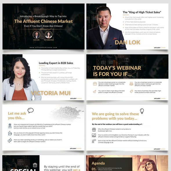 Seminar design with the title 'Digital Marketer needs a clean PPT design for a Webinar'
