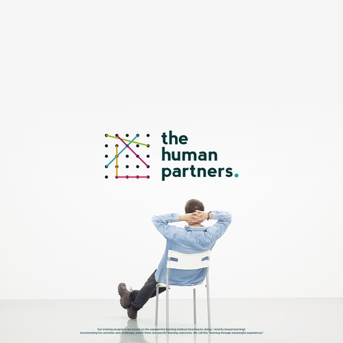 Partnership logo with the title 'The human partners'