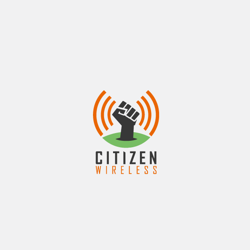 Wireless logo with the title 'Logo concept for Citizen Wireless '
