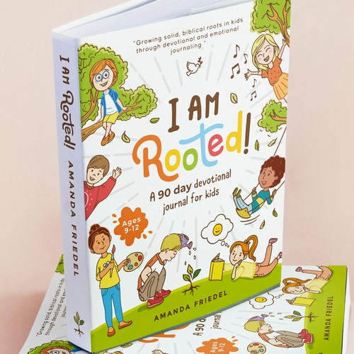 Kids book cover with the title 'I Am Rooted! Kids Devotional '